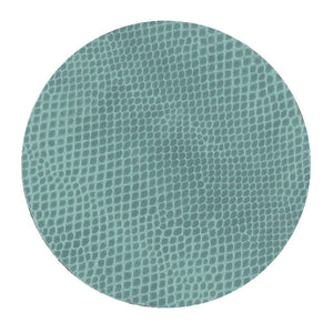 Caspari Snakeskin Felt-Backed Coasters, Mist - Set of 8