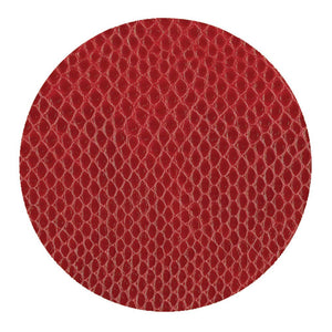 Caspari Snakeskin Felt-Backed Coasters, Crimson - Set of 8