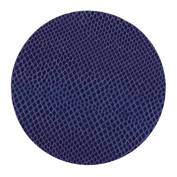 Caspari Snakeskin Felt-Backed Coasters, Navy Blue, 8 Per Box