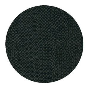 Caspari Snakeskin Felt-Backed Coasters, Black - Set of 8