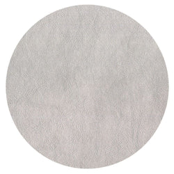 Snakeskin Felt-Backed Round Placemat – Silver