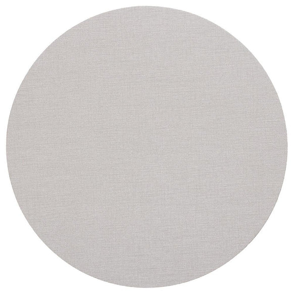 Canvas Felt-Backed Round Placemat – Linen