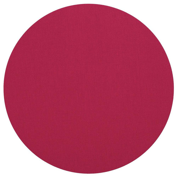 Canvas Felt-Backed Round Placemat – Fuchsia