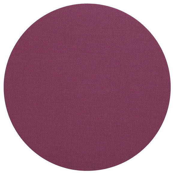 Canvas Felt-Backed Round Placemat – Auberine
