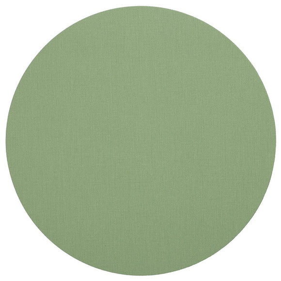 Canvas Felt-Backed Round Placemat – Moss Green