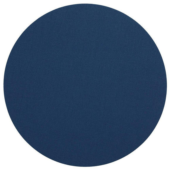 Canvas Felt-Backed Round Placemat – Navy