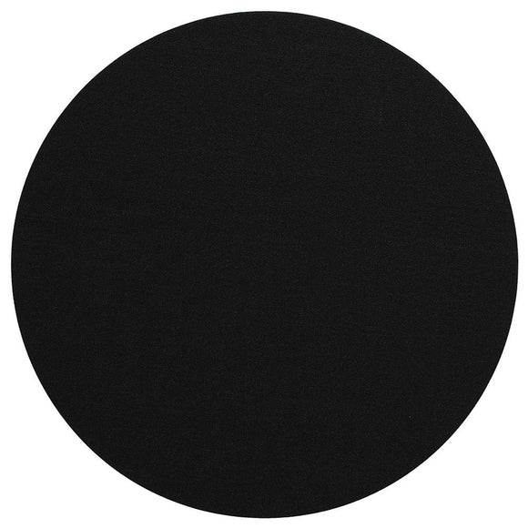 Canvas Felt-Backed Round Placemat – Black