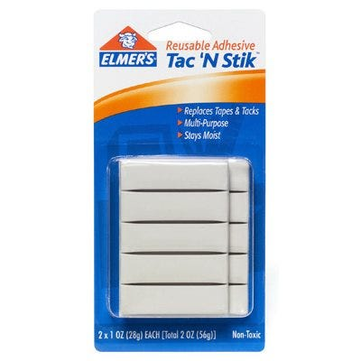 Elmer's Reusable Tac 'N Stik Adhesive – Pack of 2