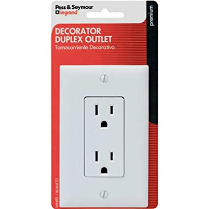 Decorator Duplex Standard Outlet Receptacle – White