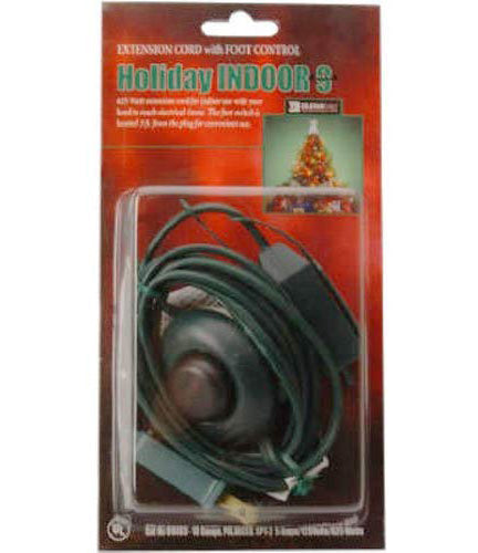 Christmas Extension with On/Off Foot Switch – Green – 9ft