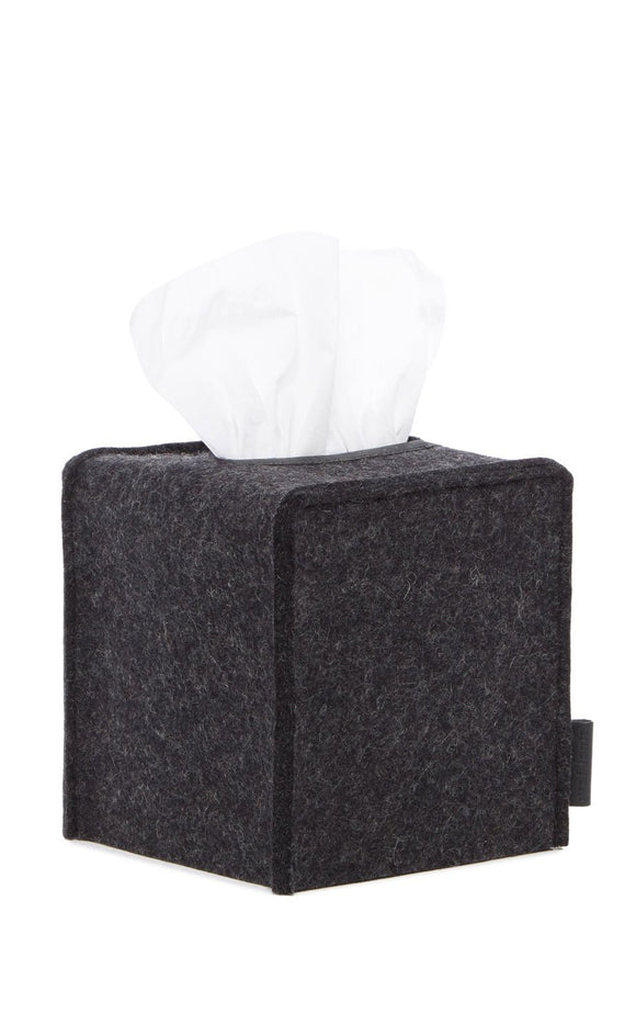 Graf Lantz Small Felt Tissue Box Cover – Charcoal