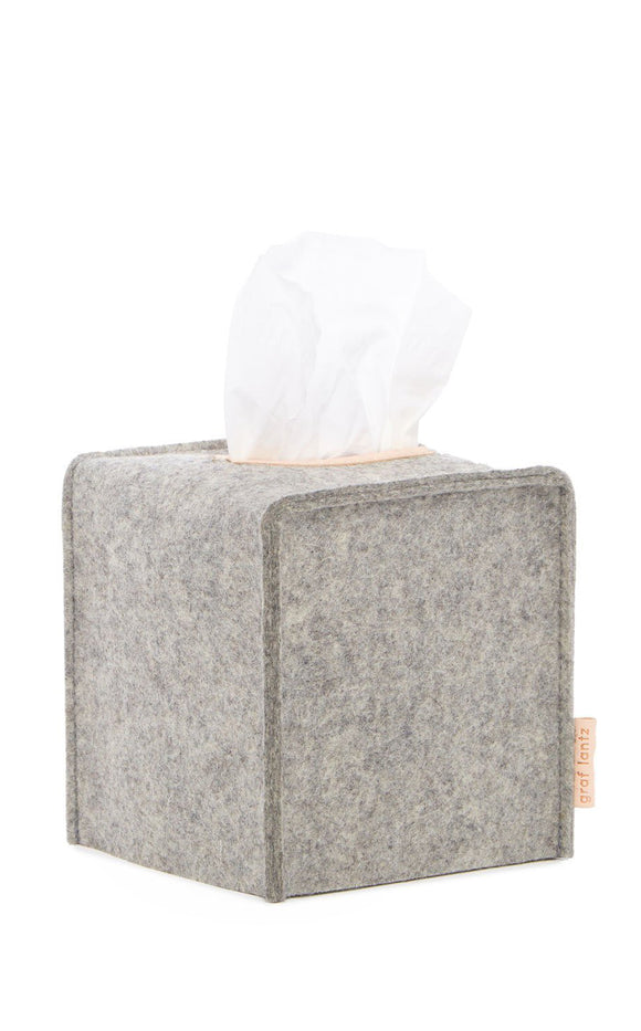 Graf Lantz Small Felt Tissue Box Cover – Granite