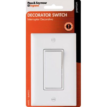 Decorator Single Pole Switch – White