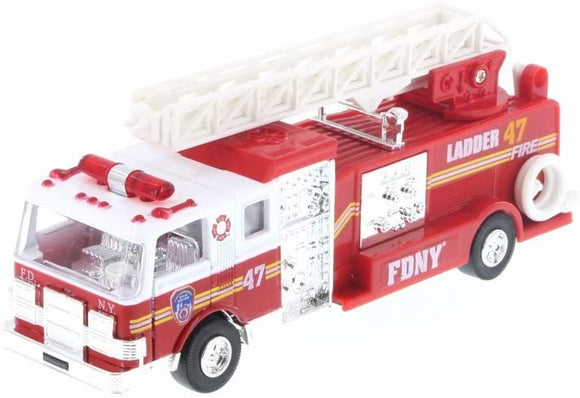 Official FDNY Fire Truck Pull Back Vehicle