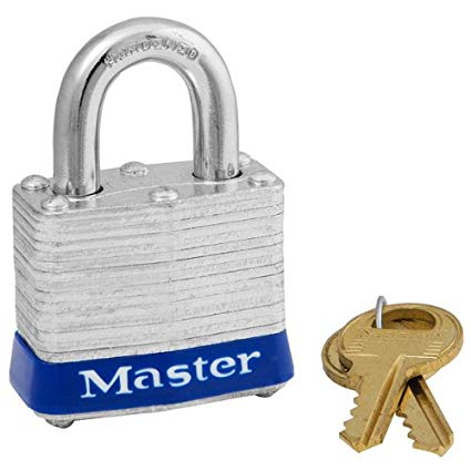 Master Lock Laminated Steel Small Padlock with 2 Keys – 1.5