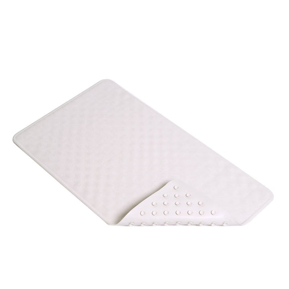 Con-Tact Rubber Bath Mat – White Shells