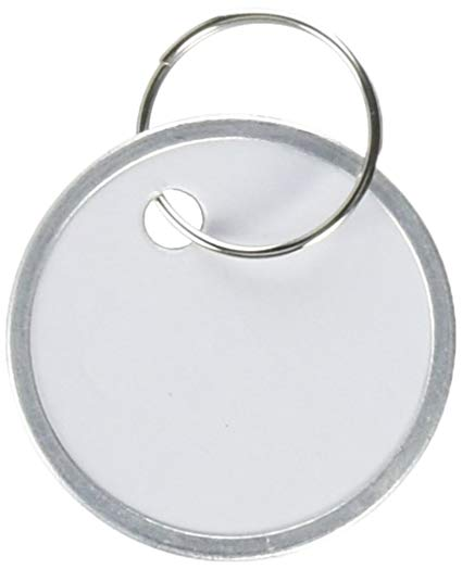 Paper Key Ring ID Tags – 25 Pack
