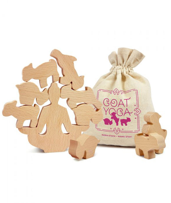 Goat Yoga – Wooden Stacking Game