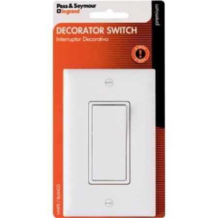 Decorator 3 Way Light Switch – White