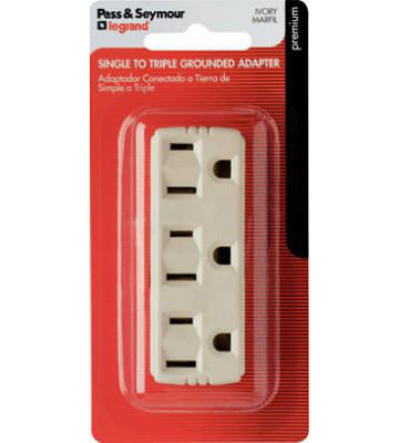 Triple Grounding Outlet Tap – Ivory