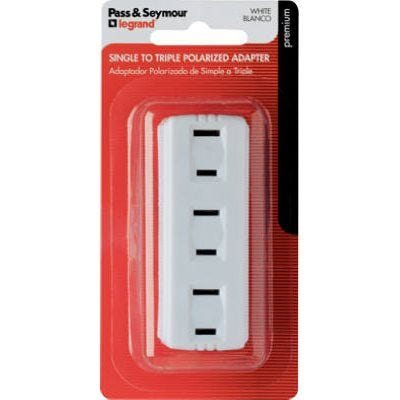 Triple Plug In Adapter – White