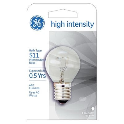 GE High Intensity Appliance Light Bulb – 40-Watt
