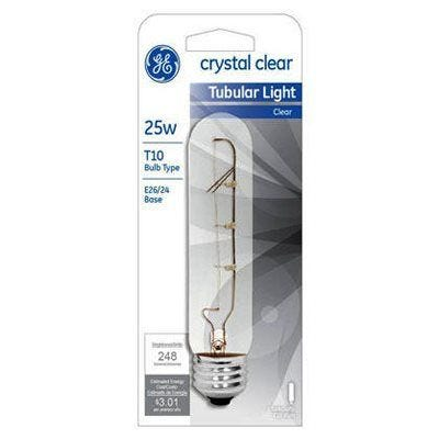 Tubular Light Bulb– Clear – 25 Watts