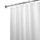 Water Repelling Fabric Shower Curtain, White