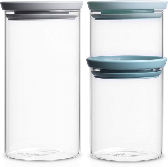 Brabantia Stackable Glass Food Storage Containers – Set of 3