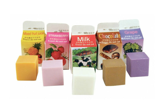 Scented Milk Carton Erasers