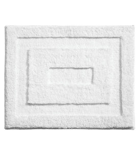 InterDesign Microfiber Spa Bathroom Accent Rug – White – 21in x 17in