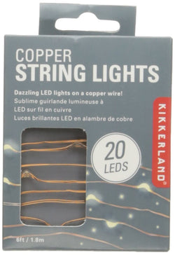 Kikkerland Copper String Lights – Soft White