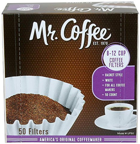 Mr. Coffee 8 -12 Cup Basket Coffee Filters – 100 Count