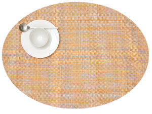 Chilewich Mini Basketweave Oval Cantaloupe Placemat