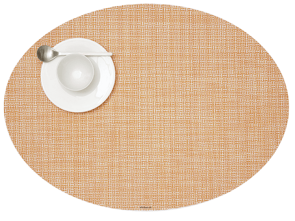 Chilewich Mini Basketweave Oval Placemat – Cantaloupe
