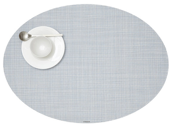 Chilewich Mini Basketweave Oval Placemat – Sky