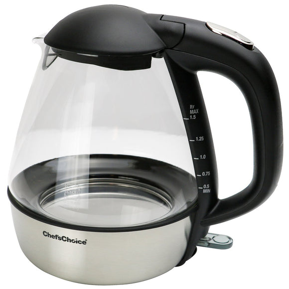 Chef's Choice Cordless Electric Glass Kettle – 1.5 Quarts