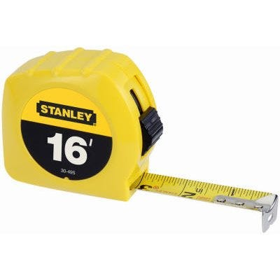 Stanley Yellow High-Vis Tape Measure – 16Ft x 3/4