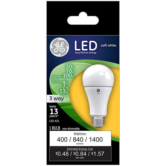GE LED 3-Way Bulb – 30/70/100W Equivalent