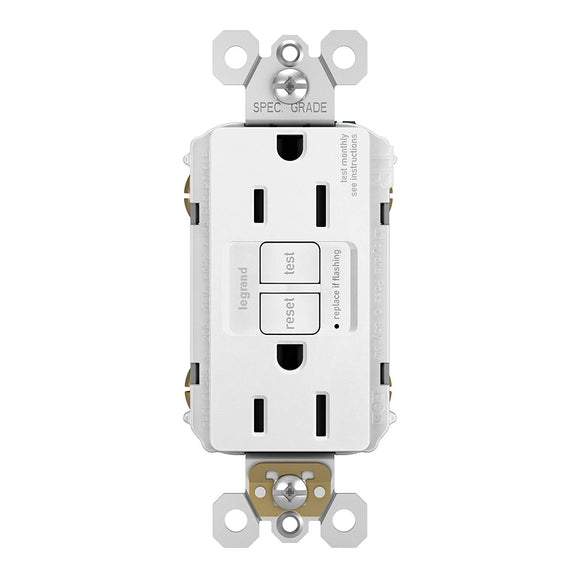 GFCI Decorator Outlet – White