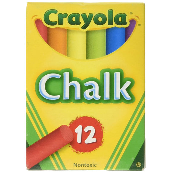 Crayola Drawing Chalk – Pack of 12 Assorted