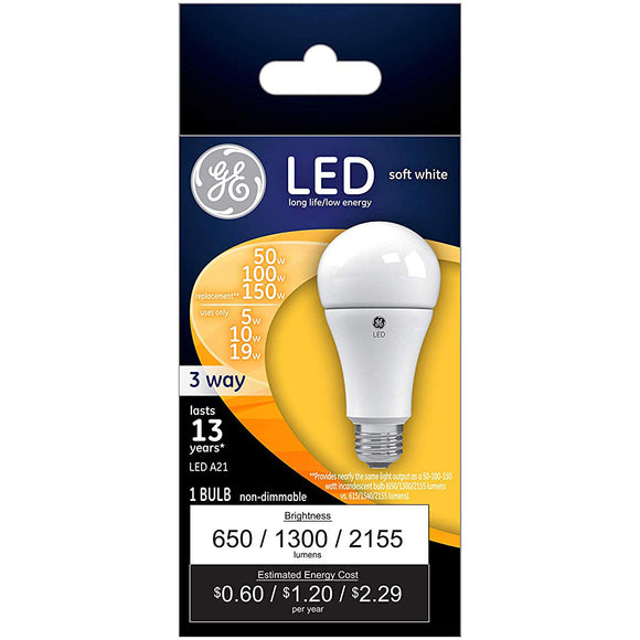 GE LED 3-Way Bulb – 50/100/150W Equivalent