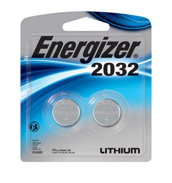 Energizer Lithium 2032 Battery – 2 Pack