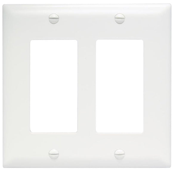 Decorator Double Wall Plate – White