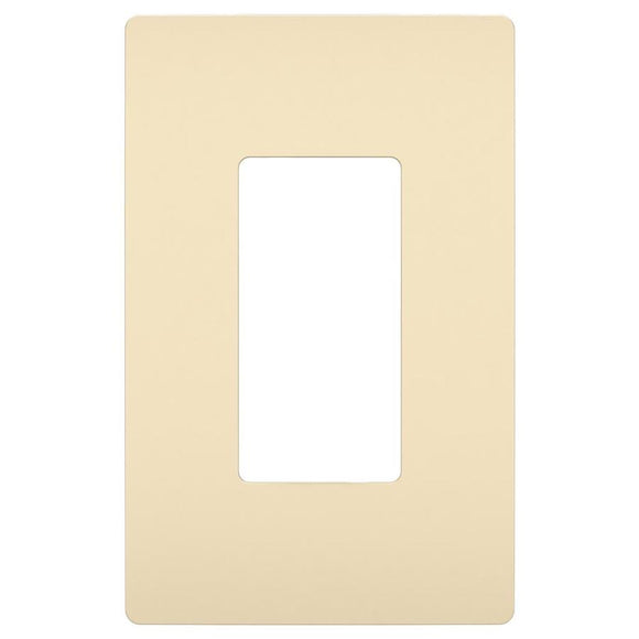 Radiant Screwless Wall Plate – Almond
