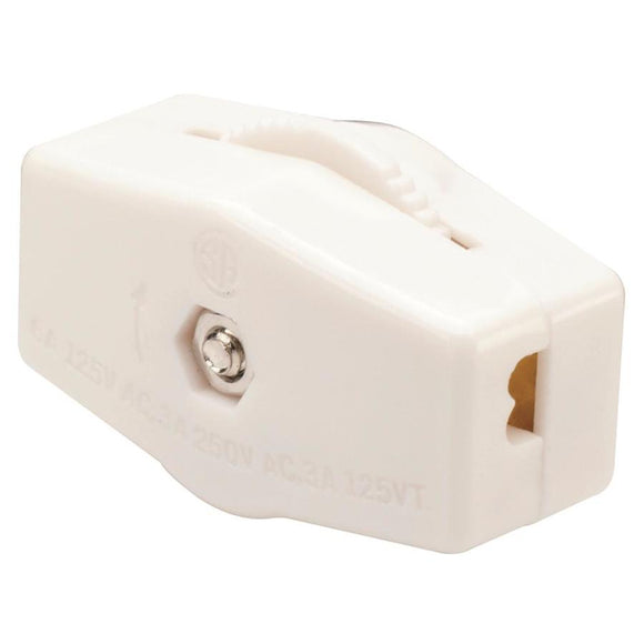 Miniature In-Line Cord Switch – White