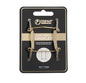 "Tripar Brass Wire Plate Display Hanger – 3""-5"""