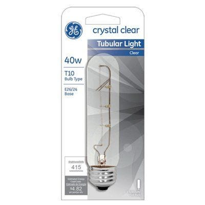 Tubular Light Bulb– Clear – 40 Watts