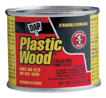 Plastic Wood Cellulose Fibre Wood Filler – Walnut – 4oz