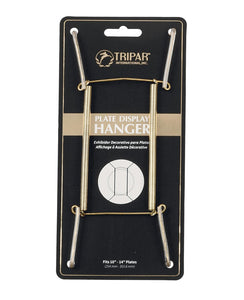 "Tripar Brass Wire Plate Display Hanger – 10""-14"""
